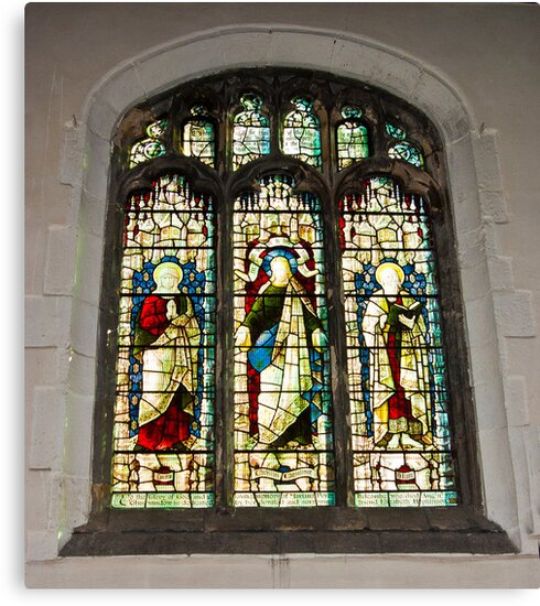 Window #1 - St Olave's Church - York. by Trevor Kersley