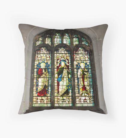 Window #1 - St Olave's Church - York. Throw Pillow
