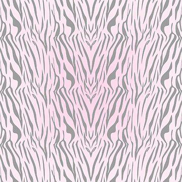 Hipster blush pink gray abstract zebra animal print by Kicksdesign