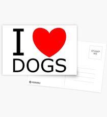 Ich liebe Hunde Postkarten