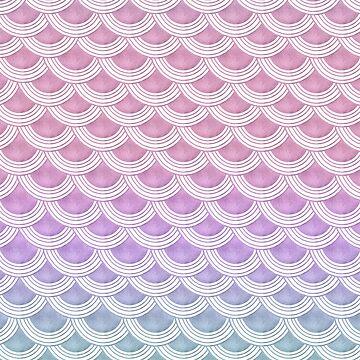 Unicorn Pastel Mermaid Scales #1 #pastel #decor #art by anitabellajantz