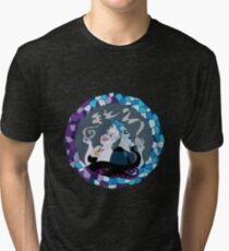 Ursula & Hades Villainous Love Tri-blend T-Shirt