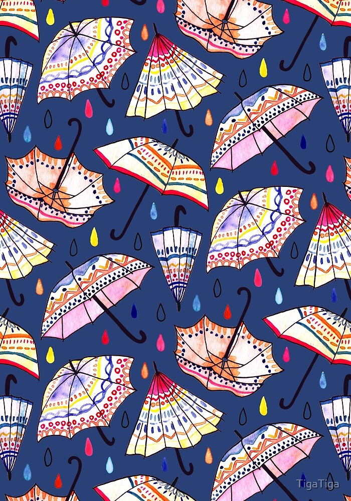 What Goes Up When Rain Comes Down? (Navy) by TigaTiga