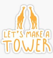 Let's make a TOWER giraffe (Collective Noun Group of giraffes) Sticker