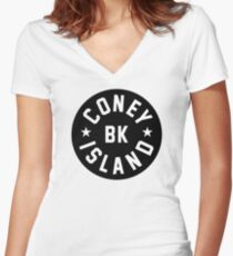 Coney Island Women's Fitted V-Neck T-Shirt