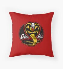 Cobra Kai logo - vintage Throw Pillow