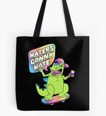 """""""Haters Gonna Hate"""" Reptar (black) Tote Bag"""