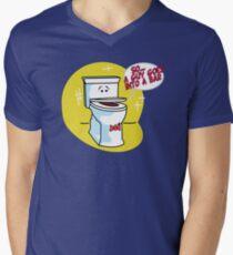 Toilet Humor Men's V-Neck T-Shirt