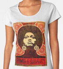 Camiseta premium para mujer Cartel de Angela Davis 1971