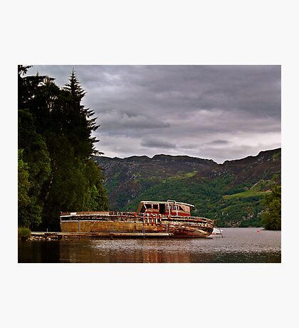 Boat Wreck On  Loch Ness, Scotland. Photographic Print