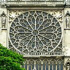 South Facade of Notre Dame with Rosette at the transept von Erwin G. Kotzab