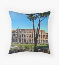 Roman Colosseum III, Italy Throw Pillow