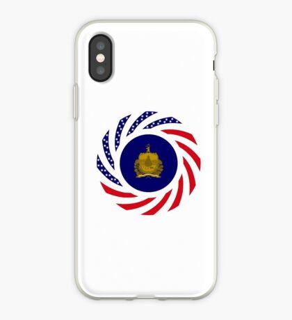 Vermont Murican Patriot Flag Series iPhone Case