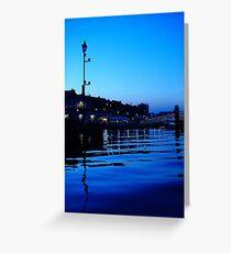 Plymouth Barbican Nightfall Greeting Card