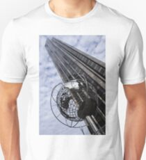Silver and Blue Planet Earth T-Shirt