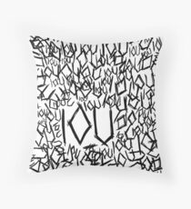 IOU Throw Pillow