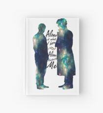"""Johnlock """"ALONE IS WHAT I HAVE"""" Hardcover Journal"""