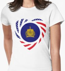 Vermont Murican Patriot Flag Series 2.0 Women's Fitted T-Shirt