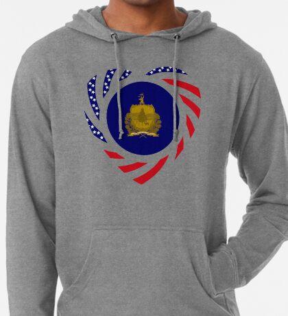 Vermont Murican Patriot Flag Series Lightweight Hoodie