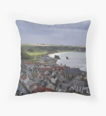 Cullen Viaduct and Beach Throw Pillow