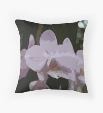 Lavender Orchid Artwork Throw Pillow