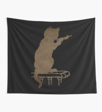 Cute Cat product - Gift For Gun Lovers Wall Tapestry