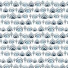 Navy Blue and White Moroccan Pattern by Laura-Lise Wong