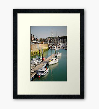 Dockside - St Valery en Caux Framed Print