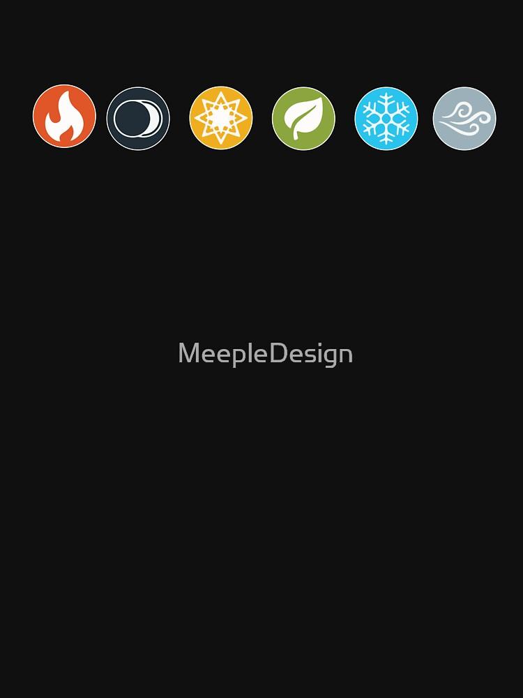 Gloomhaven Element Symbols Board Game Graphic - Tischspiele von MeepleDesign