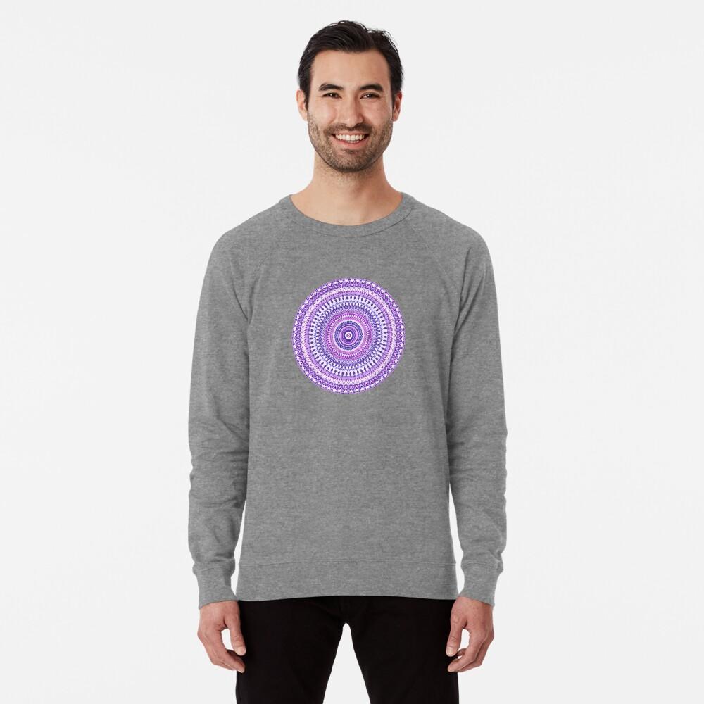 Purple Forever Mandala Lightweight Sweatshirt