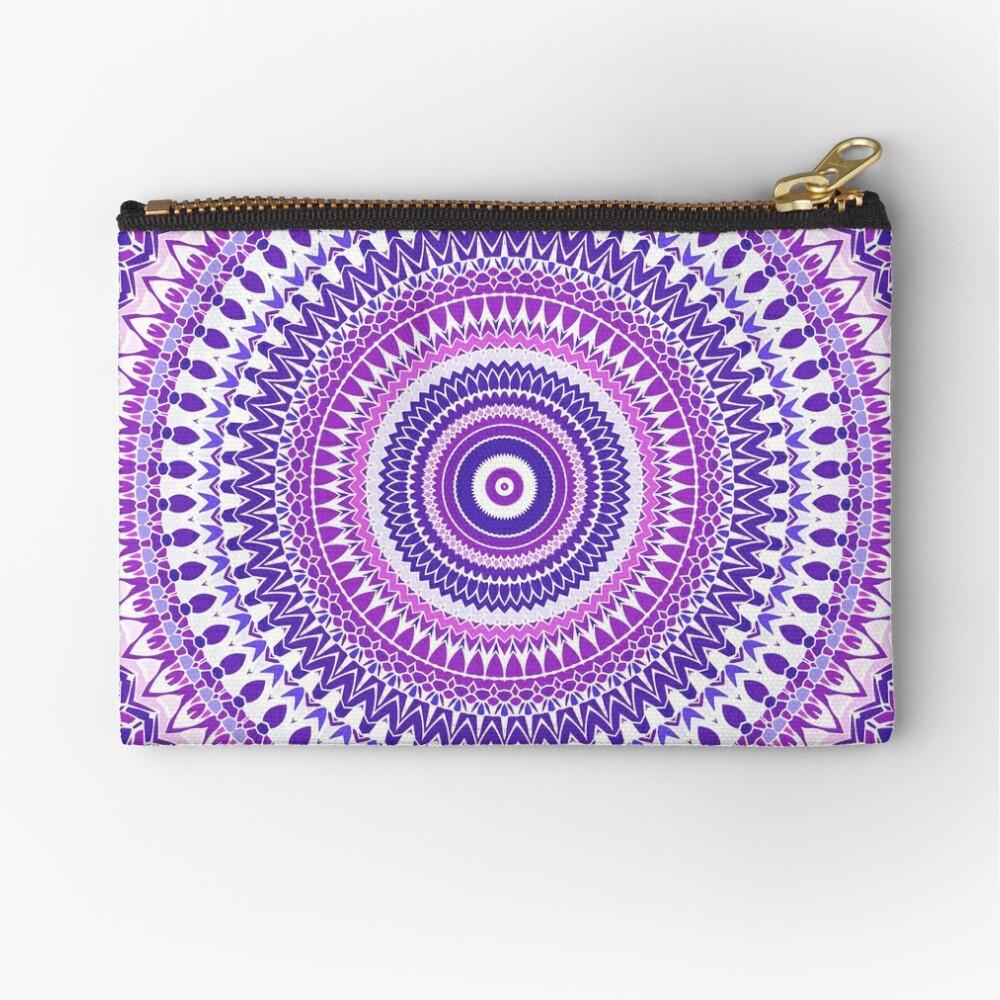 Purple Forever Mandala Zipper Pouch