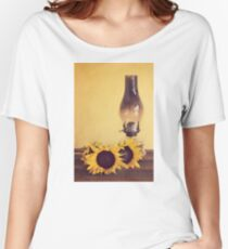 Sunflowers and Oil Lamp Women's Relaxed Fit T-Shirt