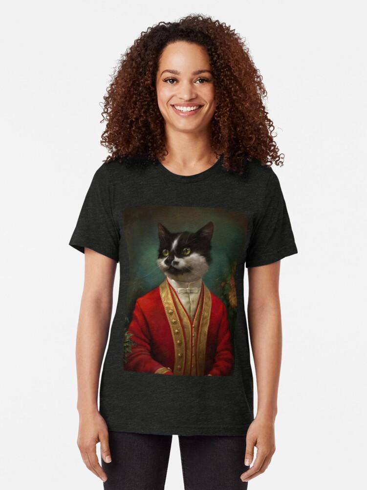Alternative Ansicht von Die Hermitage Gericht Kellner Cat Vintage T-Shirt