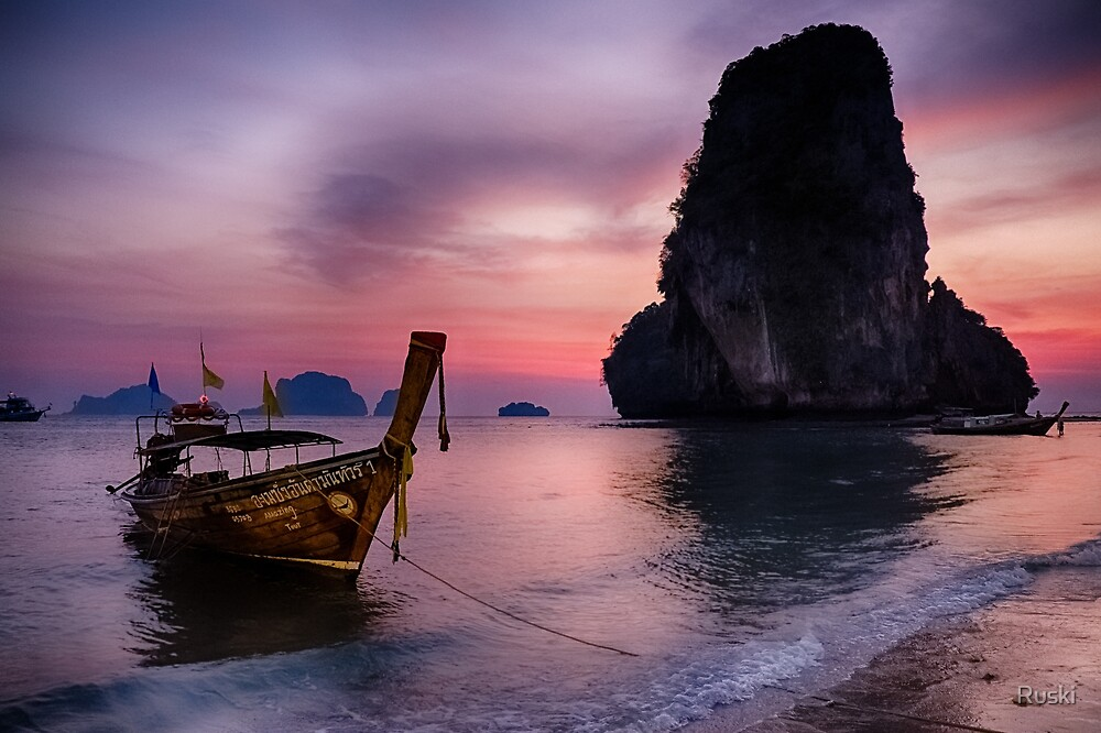 Railay Beach, Krabi by Ruski