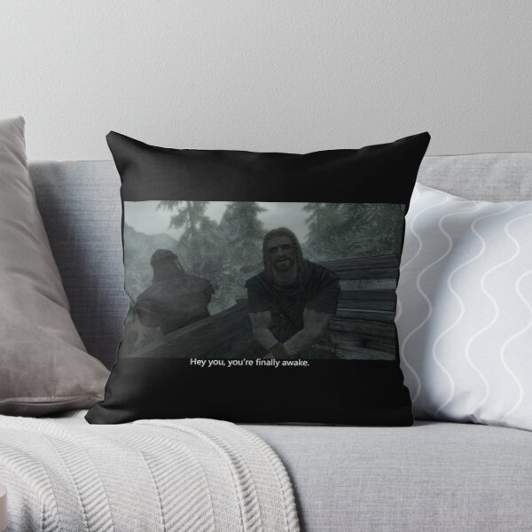 youre finally awake. Throw Pillow