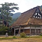 Gasshozukuri style traditional Japanese house. by johnrf
