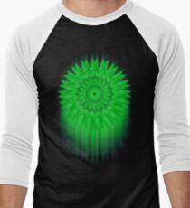 Green Flower! Men's Baseball ¾ T-Shirt