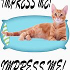 Impress Me human cat t shirt! by Josie31
