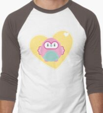 OWL SERIES :: heart hoot 2 Men's Baseball ¾ T-Shirt