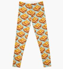 Buttered Toast Pattern Leggings