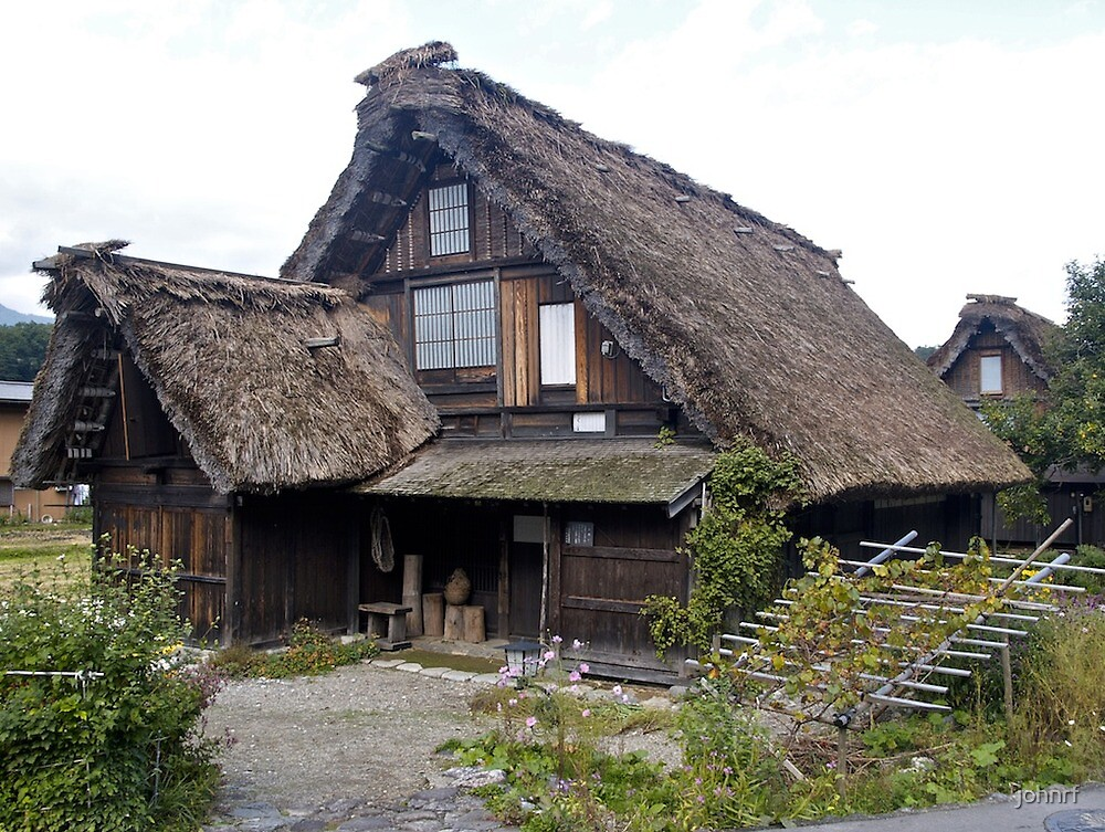 Traditional japanese house by johnrf redbubble for Photos of traditional houses