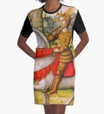 Jeanne d'Arc zu Pferd T-Shirt Kleid
