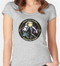 bong ripping astronaut  Women's Fitted Scoop T-Shirt