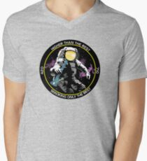 bong ripping astronaut  Men's V-Neck T-Shirt