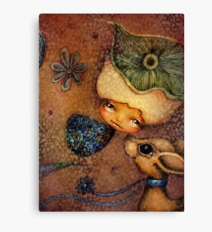 Flower of Antiquity - Love Canvas Print