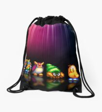 New Zealand Story pixel art Drawstring Bag