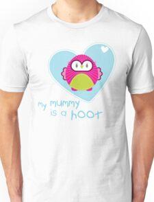 OWL SERIES :: heart - mummy is a hoot 4 T-Shirt