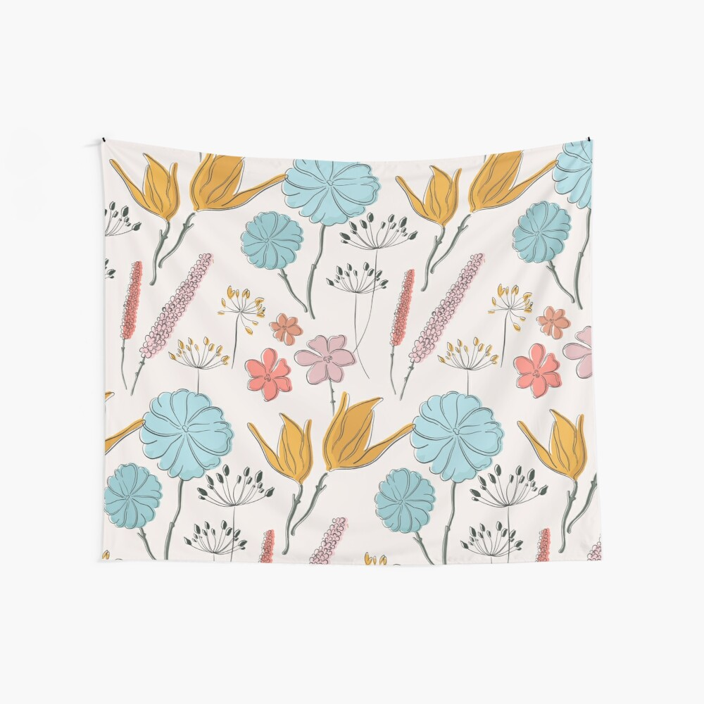 Summer flower print Wall Tapestry