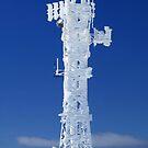 Communications tower at Mt Hotham, Victoria, Australia by Charles Kosina
