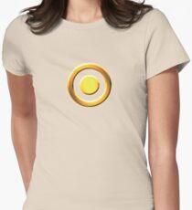 Erhabene Sonnenkaste: Eklipse Tailliertes T-Shirt für Frauen